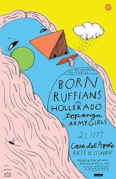 BORN RUFFIANS POSTER by Ohara.Hale, via Flickr