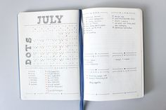 The Dot Calendar is a minimalistic monthly log for your bullet journal. Read more about how it's been working for me in this one month review. www.creativepineapple.net