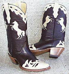 Corral Ladies Handmade Boots - Ladies Chocolate Horse