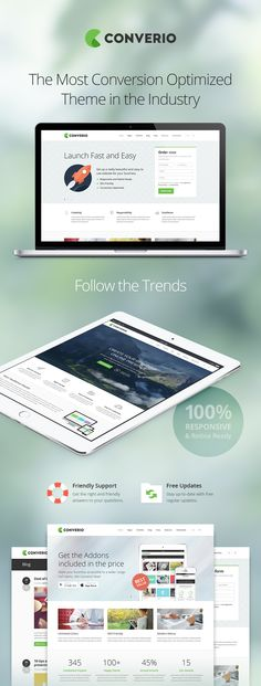 Converio - Conversion Optimized and Trendy Theme