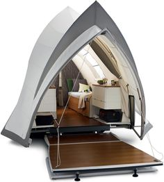Talk about bringing camping into the 21st century . This luxurious take on the camper gives you...