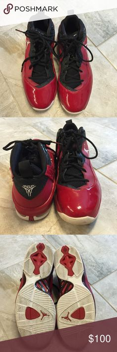 JORDAN MELO M 8 Red and black Jordan sneakers worn on the court a few times.  Excellent condition. Men's size 10.5 ... Lowest Price JORDAN Shoes Sneakers