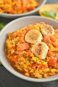 Scallops & Red Pepper Parsley Butternut Rice