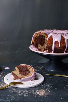 Marbled Red Wine and Chocolate Cake