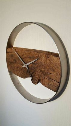 creation bois flotte montre mur simple chic