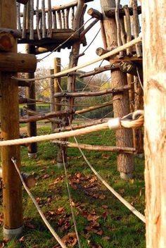 play structures made of branches | Clapton Common Play Area, London Borough of Hackney