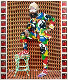 A new work by @hassanhajjaj_larache from his ongoing My Rock Stars series featuring Blaize debuts on our virtual #NataalGallery See more at nataal.com (link in bio) #NataalMedia