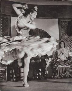 Anonymous Photographer  Gypsy dancer, Spanish, Flamenco, 1956