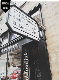 My Little Melbourne Coffee & Bakeshop, Australian Café & Bakery in Budapest - Hungary. (One of the best Café in BP. Opening A Coffee Shop, My Coffee Shop, Coffee Love, Coffee Shops, Pub Bar, Cafe Bar, Bakery Cafe, Cafe Restaurant, Melbourne Coffee
