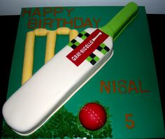 boys cricket cake - Google Search