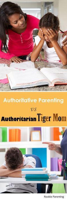 Authoritative vs authoritarian parenting