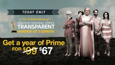 Get a year of Amazon Prime for only $67 today 9/25/15