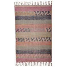 Artwork matto merkiltä House Doctor. Hieno pehmeänsävyinen matto on valmistettu puuvi...