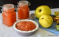 Dulceață de gutui rase rețeta rapidă, naturală, fără conservanți. Cum se face dulceața aromată de gutui pentru iarnă? Culoare superbă și Grapefruit, Bourbon, Sweets, Gem, Vegetables, Cooking, Desserts, Food, Drink