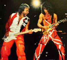 Eddie Van Halen ❤️ and Michael Anthony