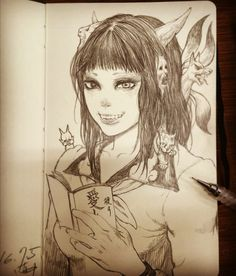 girl,鬼,sketch,draw