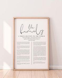 Family Proclamation, Proclamation To The World, Lds, Bed Sets For Sale, Project Free, Wall Quotes, Print Pictures, Wall Collage, Prints