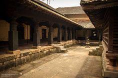 Courtyard of the temple, Mutt (Matha) at Tirthahalli, Shimoga, Karnataka.