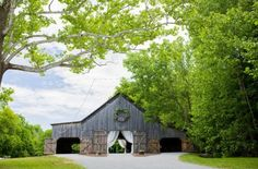 This genuine old tobacco barn has a character and charm that simply can't be recreated elsewhere. Photo Credit: Jenna Blue Photography