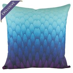 Cotton and linen-blend pillow with a scale-inspired motif.   Product: PillowConstruction Material: Cotton and lin...