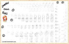 How Loonaki Draws Poses by Loonaki