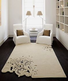 #RugsWeLove Love this rug. Fabulous...but ivory (which means it would never survive in my house)