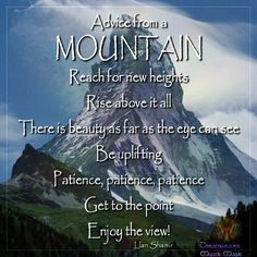 Majestic, monumental truths from the Mountain!!