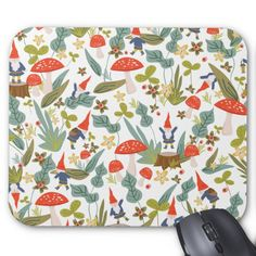 Woodland Gnomes Mouse Pad Custom office supplies #business #logo #branding