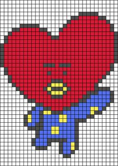 Alpha friendship bracelet pattern added by loiimelody. Cross Stitch Art, Cross Stitch Designs, Cross Stitching, Cross Stitch Embroidery, Embroidery Patterns, Cross Stitch Patterns, Minecraft Pixel Art, Perler Bead Art, Perler Beads