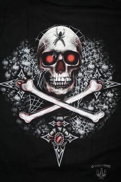 Skulls and Things Skull Face Paint, Skull Painting, Skull Artwork, Vampire Pictures, Body Bones, Skull Pictures, Scary Art, Pirate Skull, Skulls And Roses