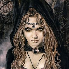 Victoria Frances the artist who made this and not Luis Royo, as someone described that this masterpiece belongs to Más Boris Vallejo, Supernatural Creatures List, Dark Fantasy, Fantasy Art, Fantasy Witch, Witch Photos, Witch Pictures, Gothic Pictures, Witch Pics