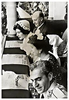 H.M. The Shah & Emprees Soraya With General Francisco Franco Watch Bullfight In Madrid Arena In 1957 by Tulipe Noire, via Flickr