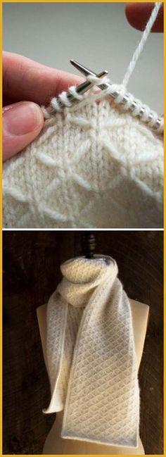 Trellis Scarf - Free Pattern - - DressPatterns Free Hacks L .Trellis Scarf - Free Pattern - - DressPatterns Free Hacks L . Knitting Terms, Knitting Stitches, Knitting Patterns Free, Free Knitting, Stitch Patterns, Free Pattern, Crochet Patterns, Knitting Designs, Knitting Needles