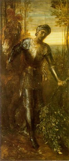 Sir Percival by George Frederic Watts :: artmagick.com
