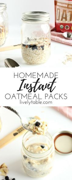 Easy and healthy homemade instant oatmeal packets make a great breakfast to start the day! Packed with fiber and omega-3's, these DIY instant oatmeal packets are so much healthier than store-bought and will keep you full all morning! Sponsored by Famer Direct | via @livelytable