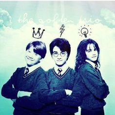 The Golden Trio Tudo Sobre Harry Potter, Harry Potter Memes, Harry Potter Pictures, Harry Potter Film, Harry Potter Characters, Harry Potter Universal, Harry Potter Fandom, Harry Potter World, Hermione Granger