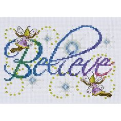 """Believe Counted Cross Stitch Kit-5""""X7"""" 14 Count"""
