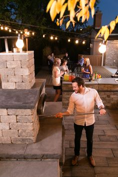 Entertaining friends is a breeze with the Harvest Grove Outdoor Kitchen Kits.
