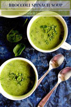 Healthy Brocolli Soup, Vegan Spinach Soup Recipe, Brocolli Soup Recipes, Brocoli Soup, Vegetarian Soup, Spinach Recipes, Vegan Soup, Healthy Soup, Easy Healthy Recipes