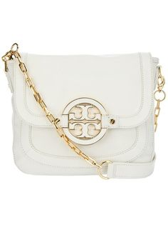 Tory Burch White Leather Shoulder Bag 5