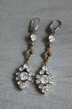 Vintage assemblage earrings by frenchfeatherdesigns