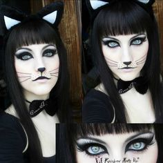 Halloween Chat Noir, Fröhliches Halloween, Cool Halloween Makeup, Halloween Cosplay, Scarecrow Makeup, Karneval Diy, Make Carnaval, Maquillaje Halloween, Maquillaje Diy