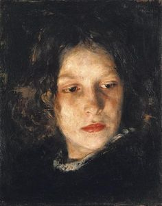 Alois Erdtelt (German painter) 1851 - 1911 Mädchenkopf (Head of a Girl), 1895 oil on canvas