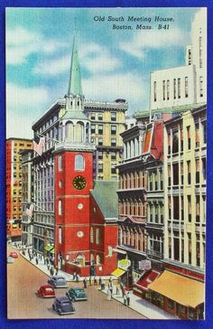 MASS - BOSTON, OLD SOUTH MEETING HOUSE   http://www.ebay.com/itm/MASS-BOSTON-OLD-SOUTH-MEETING-HOUSE-/171492731819?ssPageName=STRK:MESE:IT