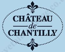 French Stencil Chantilly Sign Paint Re-Usable Airbrush Chateau Wall Craft 013 Stencil Fabric, Stencils, Painting Tools, Artist Painting, Chantilly Chateau, French Script, Love French, Oise, Train Rides