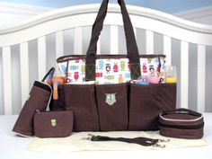 Soho Diaper Bag 6 in 1 Deluxe Owl Diaper Bag Stylish Diaper *Limited time offer* #SoHoDesigns