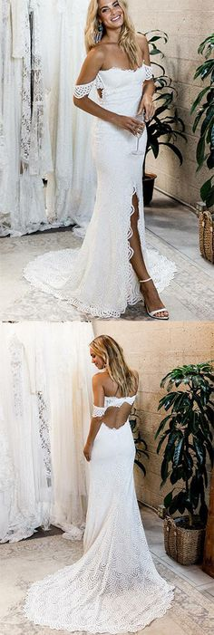 Buy Off the Shoulder White Sweetheart Lace Sexy Mermaid Open Back Beach Wedding Dress in uk.Shop our beautiful collection of unique and convertible long Prom dresses from PromDress.uk,offers long bridesmaid dresses for women in the UK. White Lace Wedding Dress, Sweetheart Wedding Dress, Lace Mermaid Wedding Dress, Sexy Wedding Dresses, Long Bridesmaid Dresses, Mermaid Dresses, Bridal Dresses, Wedding White, Wedding Gowns