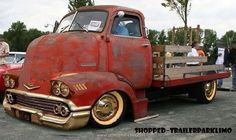 '58 Chevy car nose on late '40's truck....