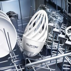 Disinfecting UV-C Dishwasher Light UV-C light kills up to 99.9% of microbes. Quickly and sustainably. Without chemicals.