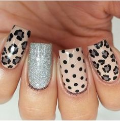 Leopard print nails - would be fun with gold glitter accent nail Fabulous Nails, Gorgeous Nails, Love Nails, Pink Nails, Leopard Print Nails, Leopard Prints, Leopard Nail Art, Uñas Fashion, Fashion Ideas